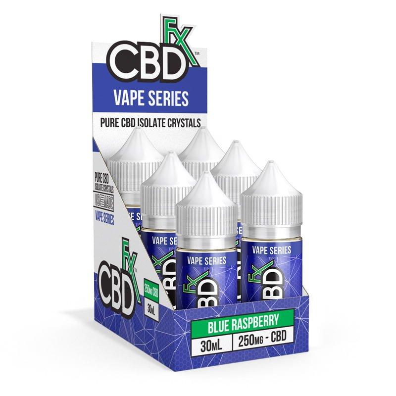 CBDfx, Blue Raspberry – CBD Vape Juice, Broad Spectrum THC-Free, 1oz, 250mg of CBD2