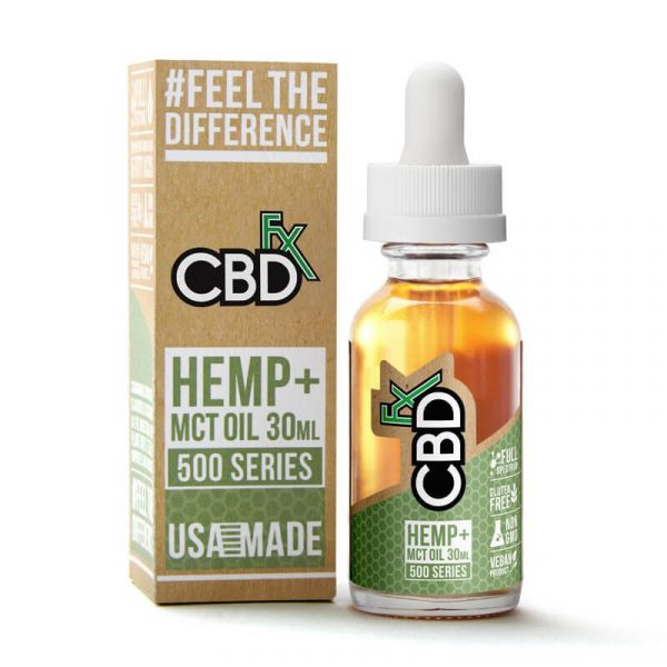 CBDfx, CBD Tincture Oil, Natural Flavor, Full Spectrum, 1oz, 500mg of CBD