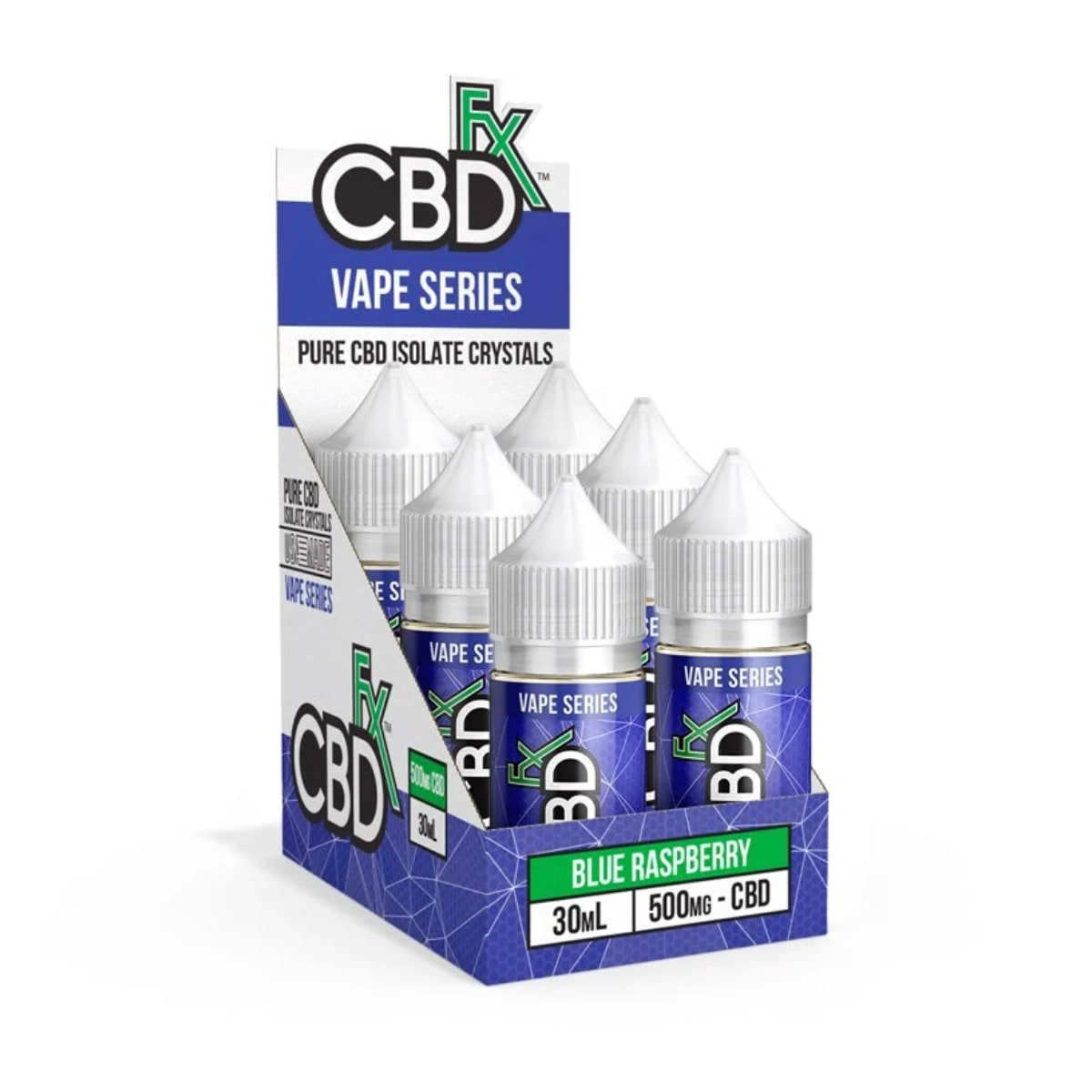 CBDfx, CBD Vape Juice, Blue Raspberry, Isolate THC-Free, 1oz, 500mg of CBD2