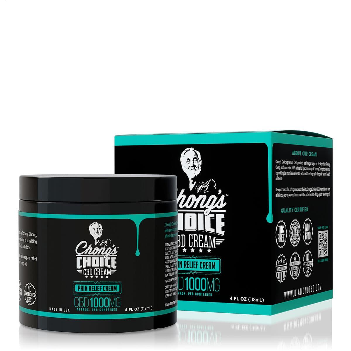 Chong's Choice, CBD Cream, Pain Relief, Broad Spectrum THC-Free, 4oz, 1000mg CBD (1)