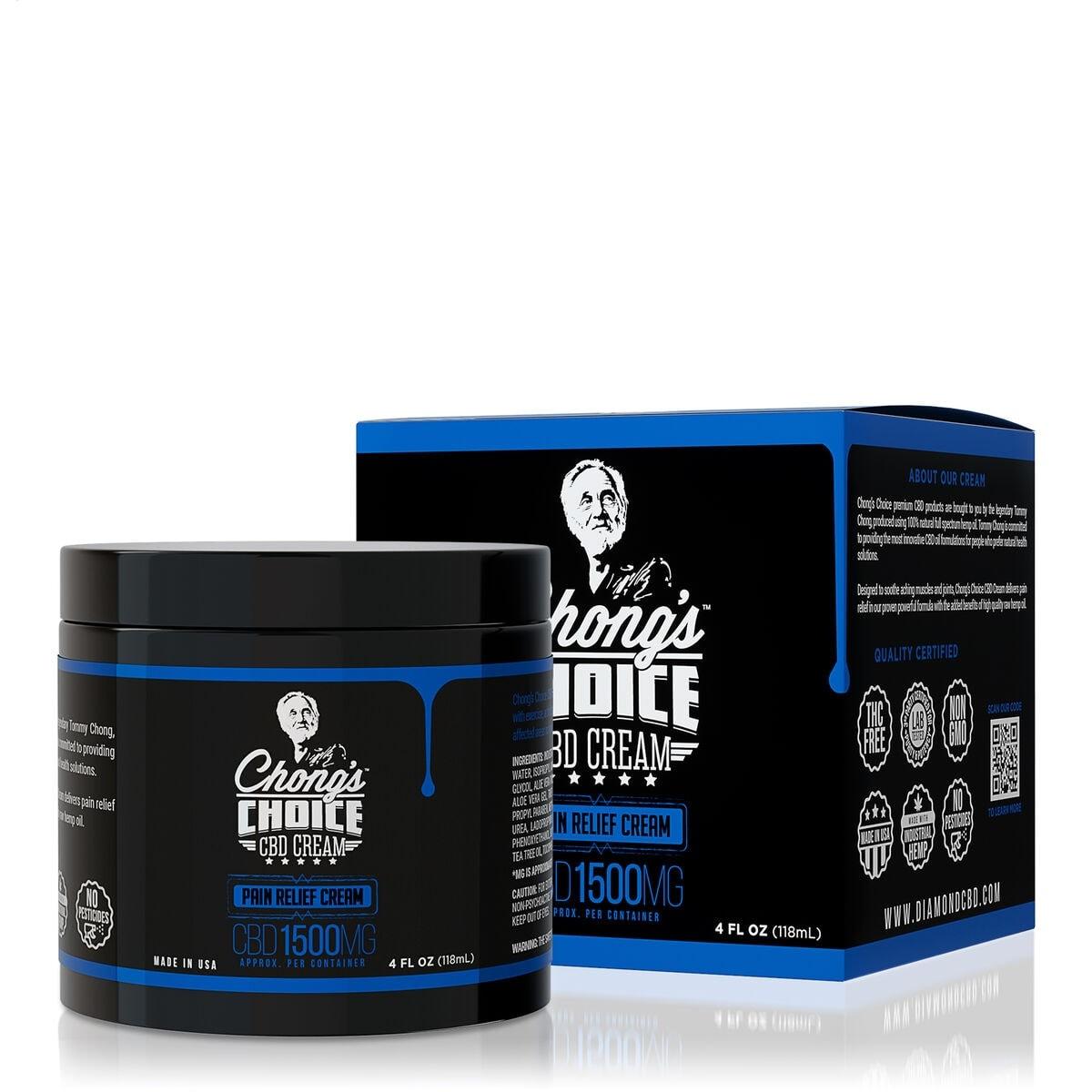 Chong's Choice, CBD Cream, Pain Relief, Broad Spectrum THC-Free, 4oz, 1500mg CBD