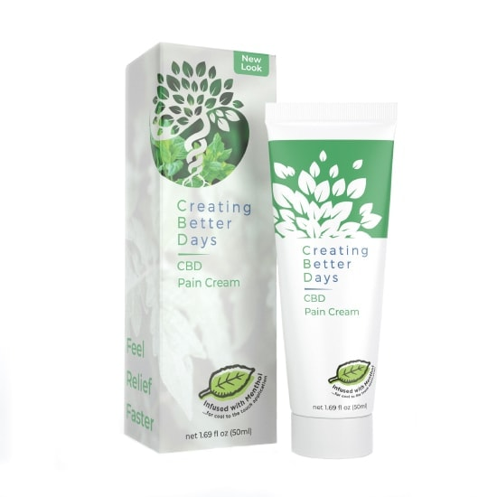 Creating Better Days, Nano-CBD Pain Cream, Full Spectrum, 1.69oz, 300mg of CBD