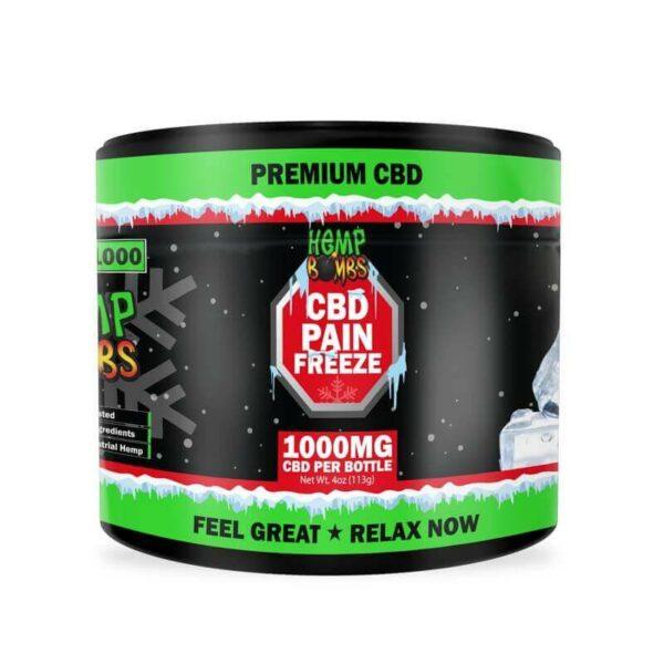 Hemp Bombs, High Potency CBD Pain Rub, Broad Spectrum THC-free, 4oz, 1000mg of CBD