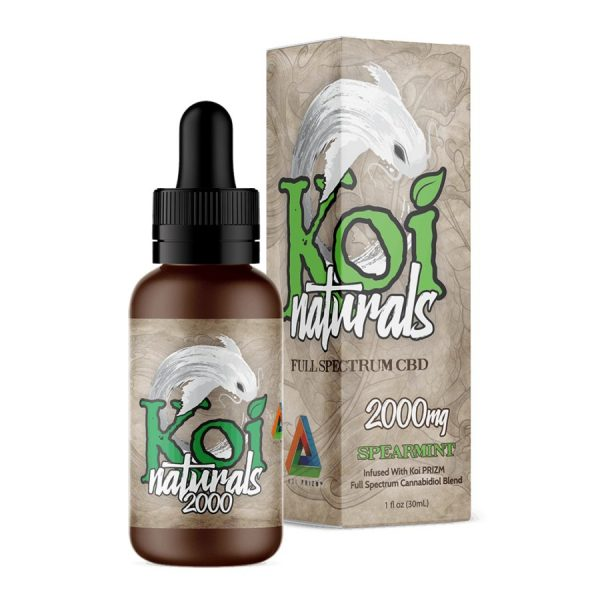 Koi CBD, CBD Oil, Full Spectrum, Spearmint, 30ml, 2000mg of CBD