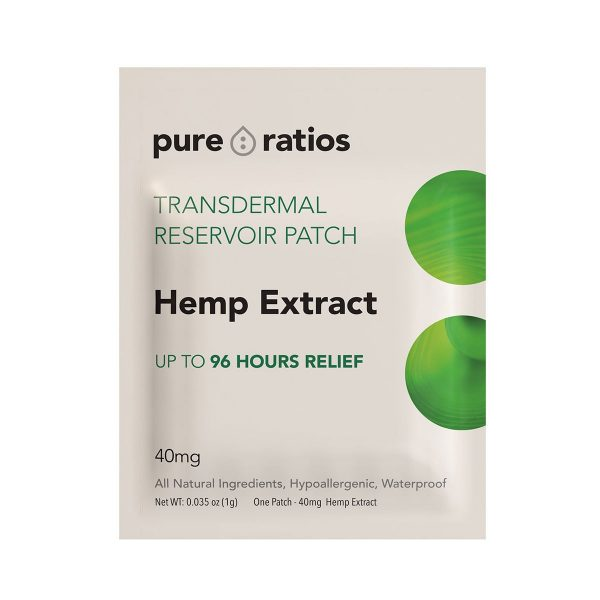 Pure Ratios, 96 Hour Transdermal Hemp Extract Patch, 1-count