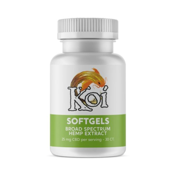 Koi CBD, Hemp Extract CBD Softgels, Full Spectrum, 30-Count, 750mg of CBD