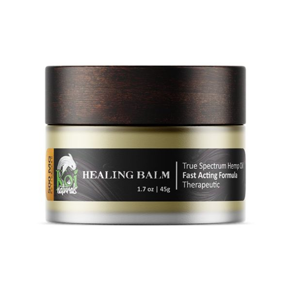 Koi CBD, Hemp Extract Healing CBD Balm, Full Spectrum, 1.7oz, 500mg of CBD