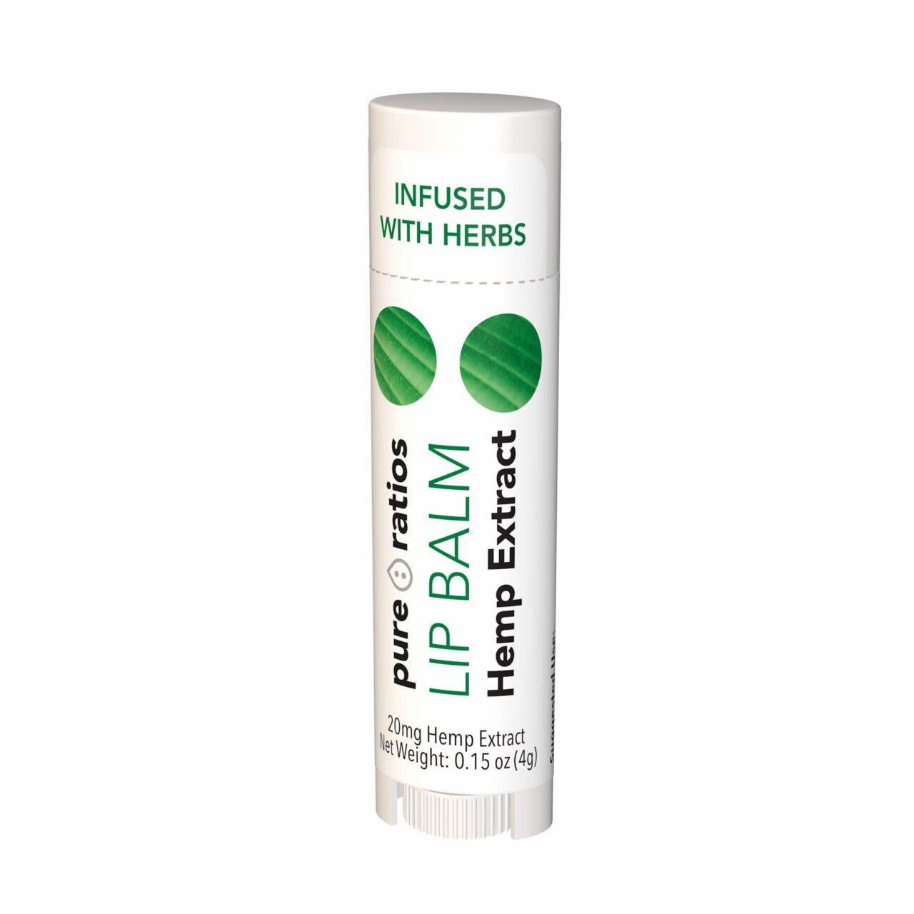 Pure Ratios, Hemp Extract Lip Balm, 20mg