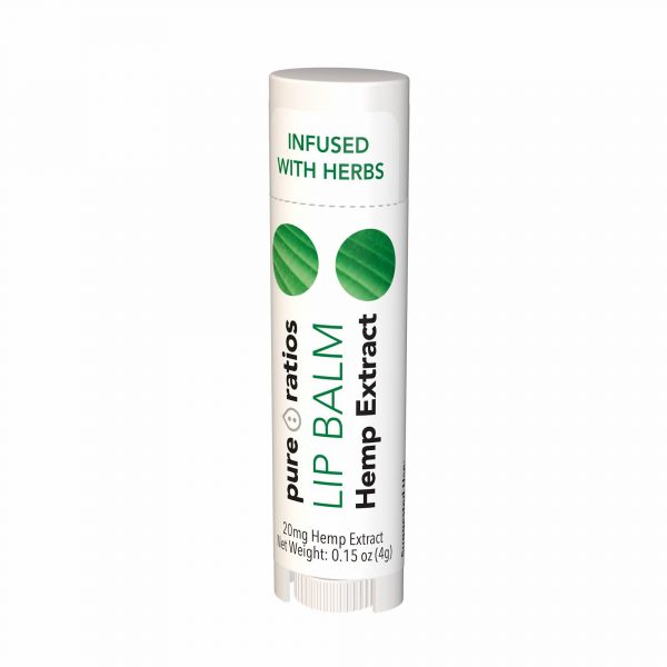 Pure Ratios, Hemp Extract Lip Balm, 20mg
