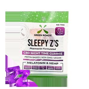 Green Roads, Sleepy Z's, High Potency CBD gummies, 2-count