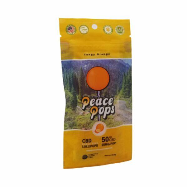 Creating Better Days, Nano-CBD Lollipop, Tangy Orange, 2-Pack, 50mg of CBD