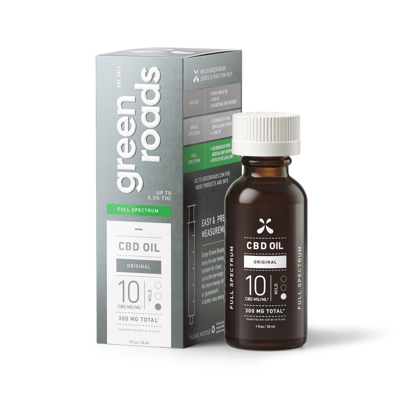 Green Roads, CBD Oil, Full Spectrum, Natural Flavor, 1oz, 10MG_ML, 300mg of CBD