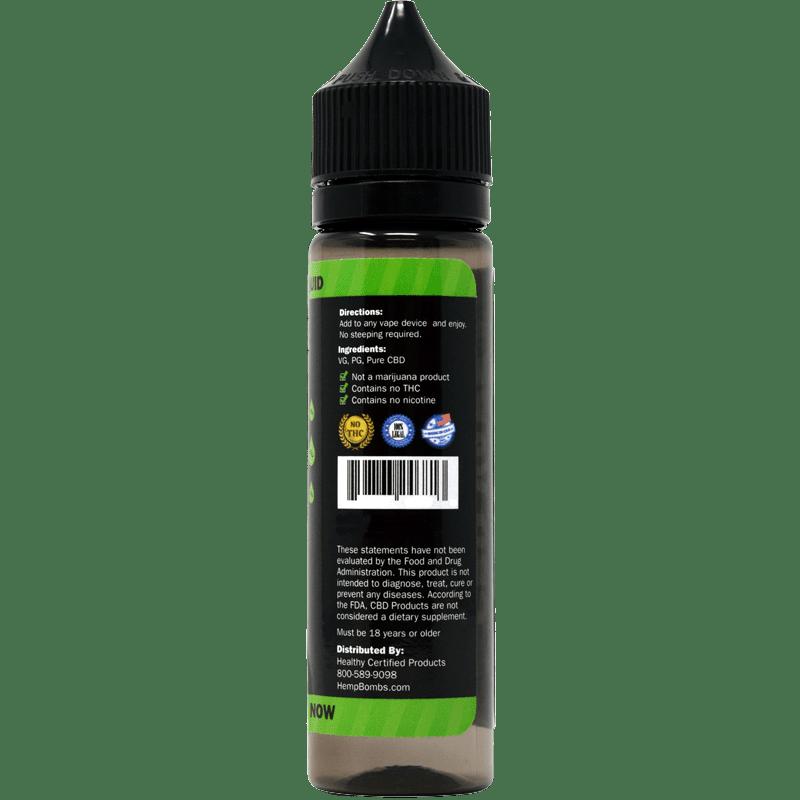 Hemp Bombs, CBD E-Liquid, Broad Spectrum THC-free, Sweet Mango, 60ml, 1000mg of CBD3