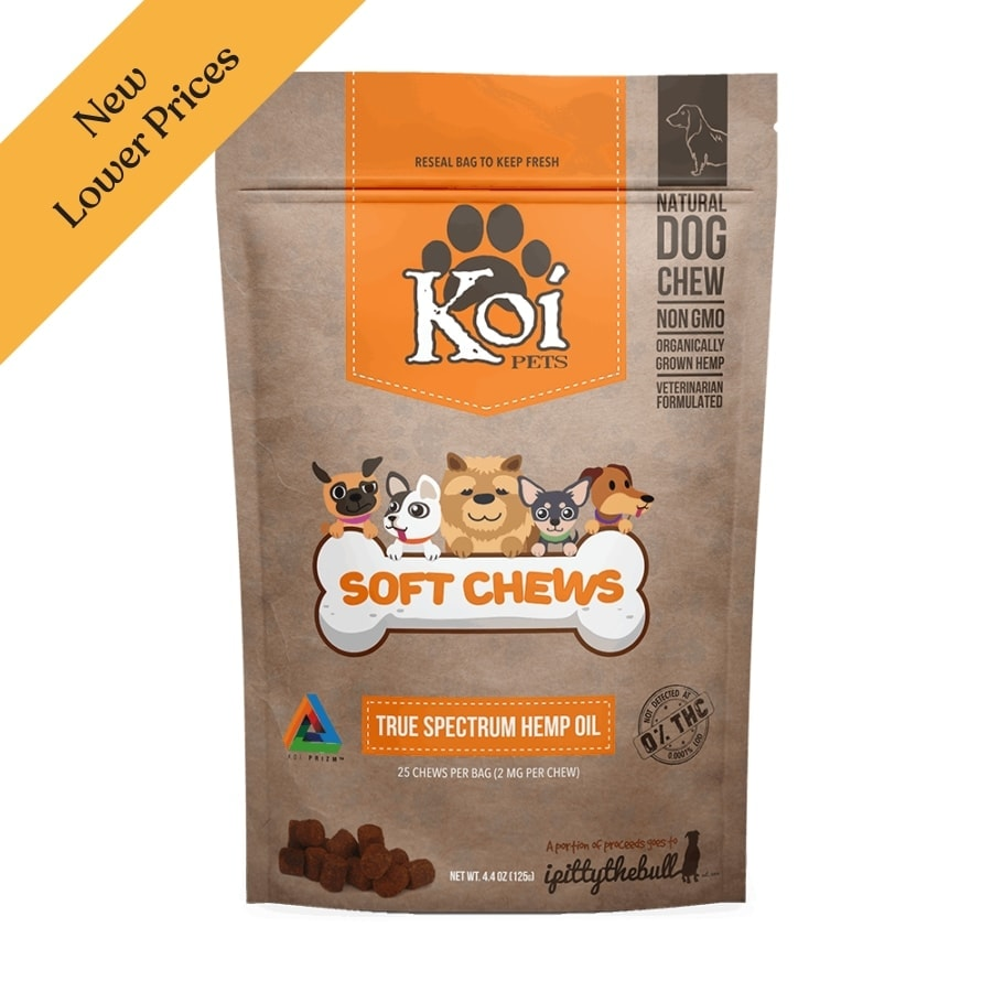 Koi Pets, Hemp Extract CBD Pet Soft Chews, Full Spectrum, 25-count, 50mg of CBD