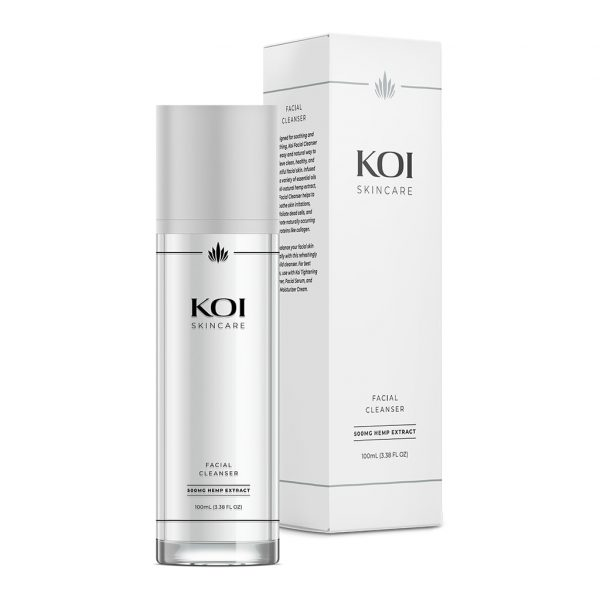 Koi Skincare, CBD Facial Cleanser, Full Spectrum, 3.38oz, 500mg of CBD