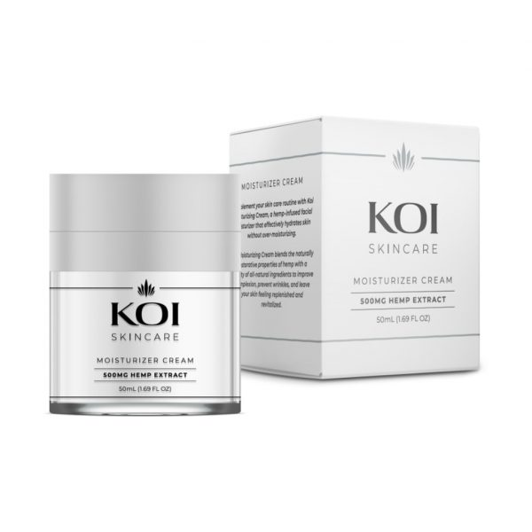 Koi Skincare, CBD Moisturizer Cream, Full Spectrum, 1.69oz, 500mg of CBD