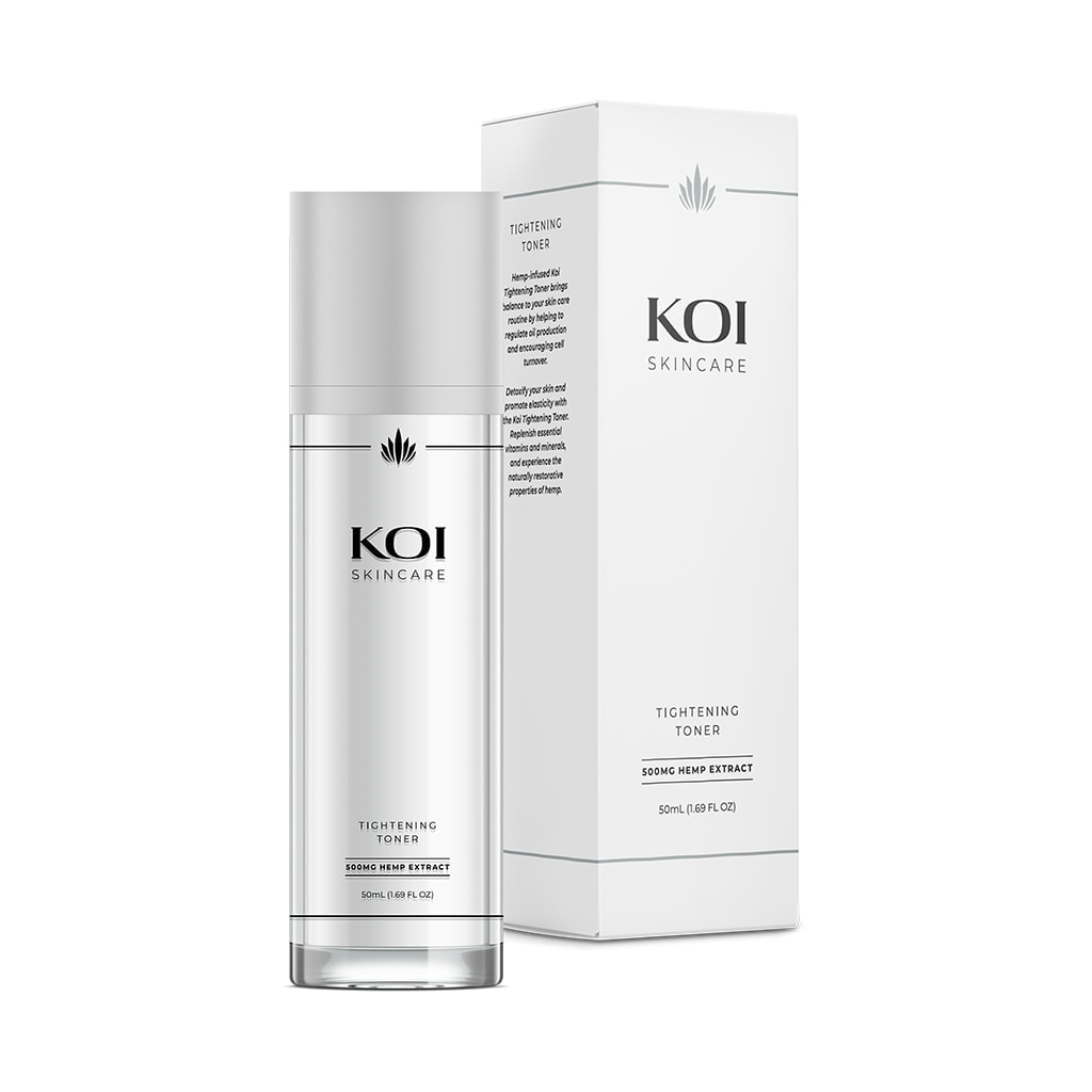 Koi Skincare, CBD Tightening Toner, Full Spectrum, 1.69oz, 500mg of CBD
