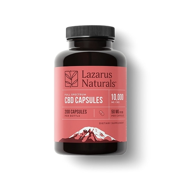 Lazarus Naturals, 50mg Full Spectrum CBD Capsules, 200 capsules, 10000mg of CBD