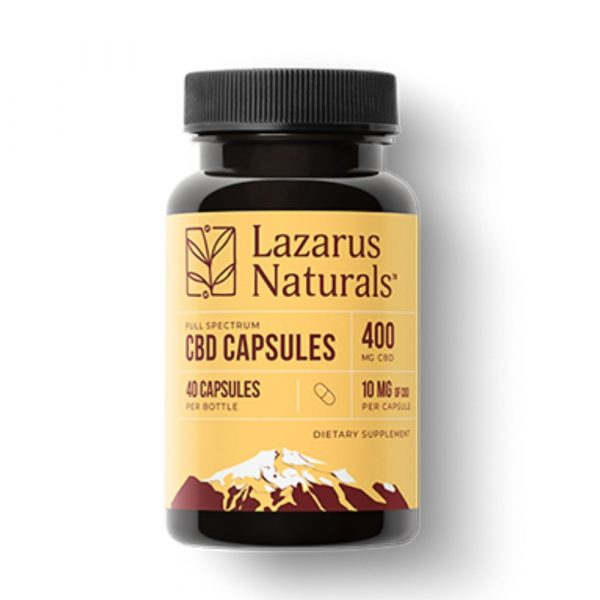 Lazarus Naturals, 10mg Full Spectrum CBD Capsules, 40 capsules, 400mg of CBD