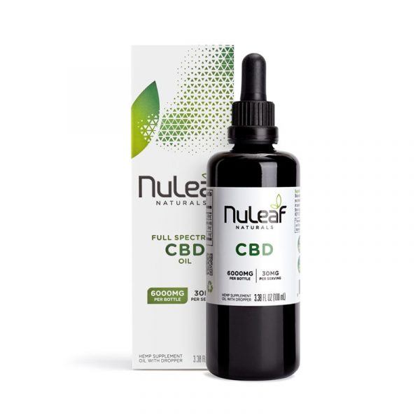 NuLeaf Naturals, Hemp CBD Oil, Full Spectrum, 100mL, 6000mg of CBD