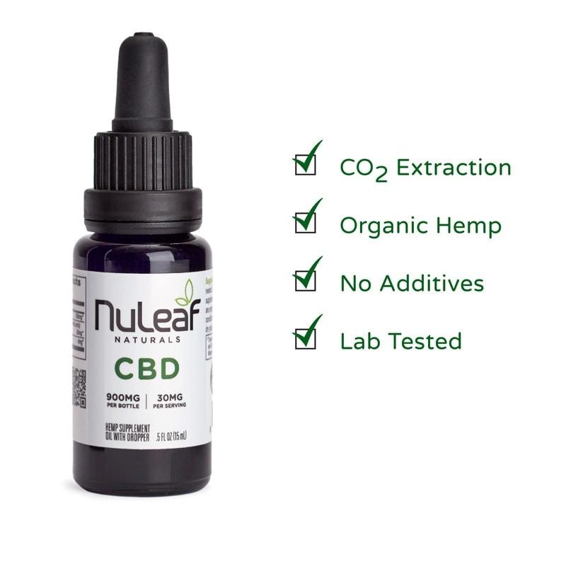 NuLeaf Naturals, Hemp CBD Oil, Full Spectrum, 15mL, 900mg of CBD