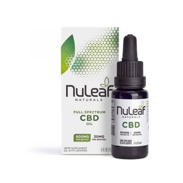 NuLeaf Naturals, Hemp CBD Oil, Full Spectrum, 15mL, 900mg of CBD