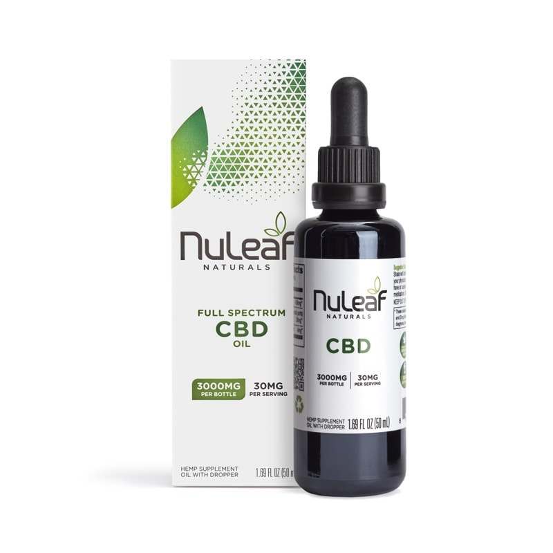 NuLeaf Naturals, Hemp CBD Oil, Full Spectrum, 50mL, 3000mg of CBD2