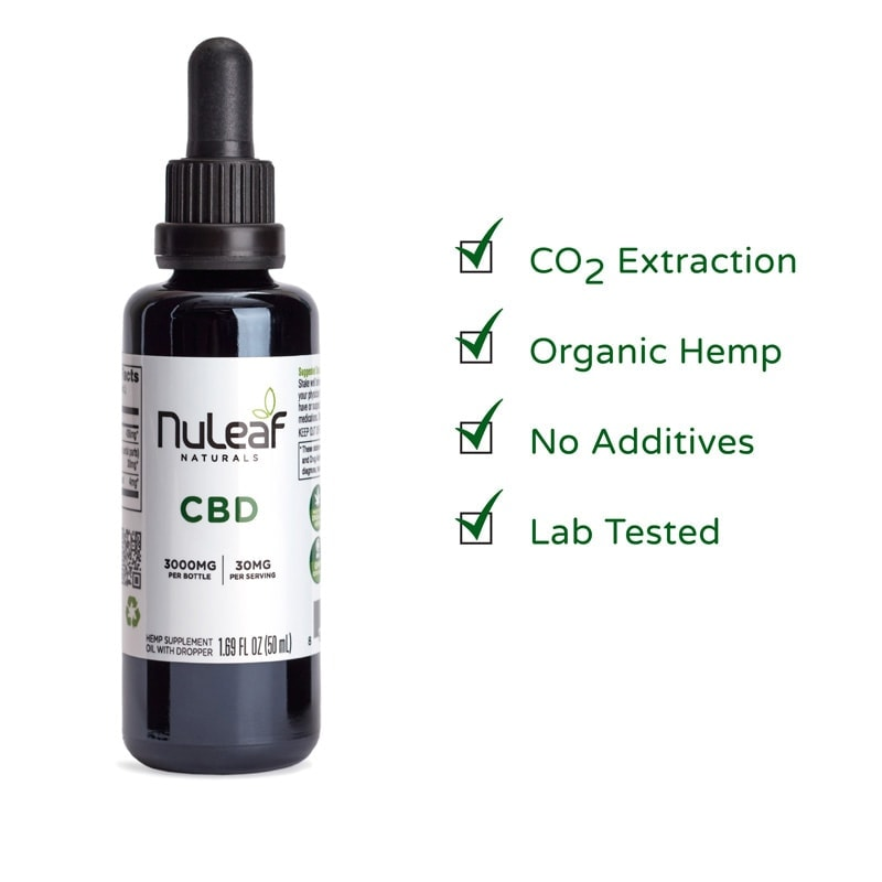 NuLeaf Naturals, Hemp CBD Oil, Full Spectrum, 50mL, 3000mg of CBD2