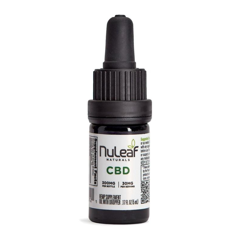NuLeaf Naturals, Hemp CBD Oil, Full Spectrum, 5mL, 300mg of CBD