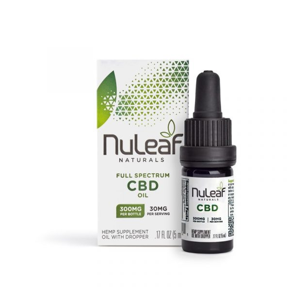 NuLeaf Naturals, Hemp CBD Oil, Full Spectrum, 5mL, 300mg of CBD
