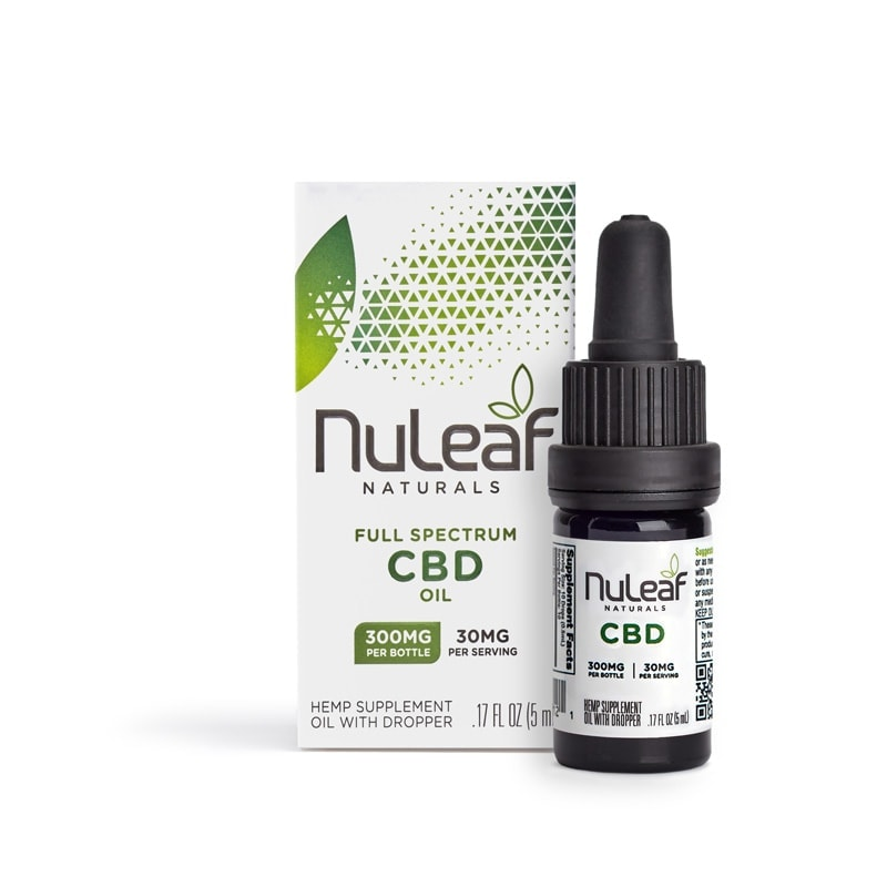 NuLeaf Naturals, Hemp CBD Oil, Full Spectrum, 5mL, 300mg of CBD2
