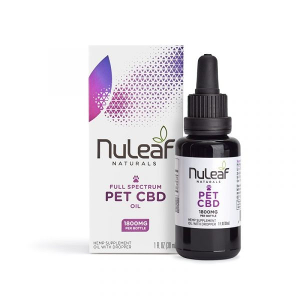 NuLeaf Naturals, Pet CBD Oil, Full Spectrum, 30mL, 1800mg of CBD