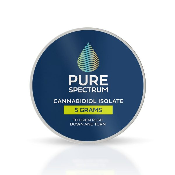 Pure Spectrum, 99% CBD Isolate Powder, 5g, 5000mg of CBD