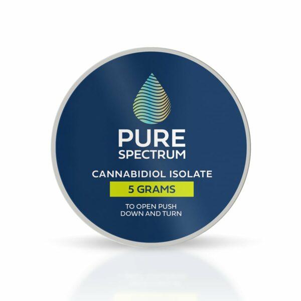 Pure Spectrum, 99% CBD Isolate Powder, 5g, 5000mg of CBD