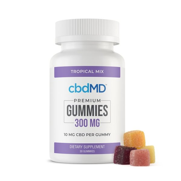 cbdMD, CBD Gummies, Broad Spectrum THC-Free, 30-Count, 300mg of CBD