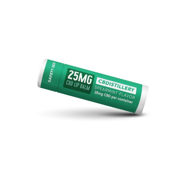 CBDistillery, CBD Lip Balm, Spearmint, Broad Spectrum THC-Free, 25mg of CBD