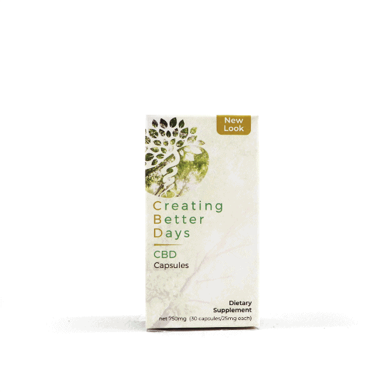 Creating Better Days, CBD Capsules, Broad Spectrum THC-Free, 30-Count, 750mg of CBD2