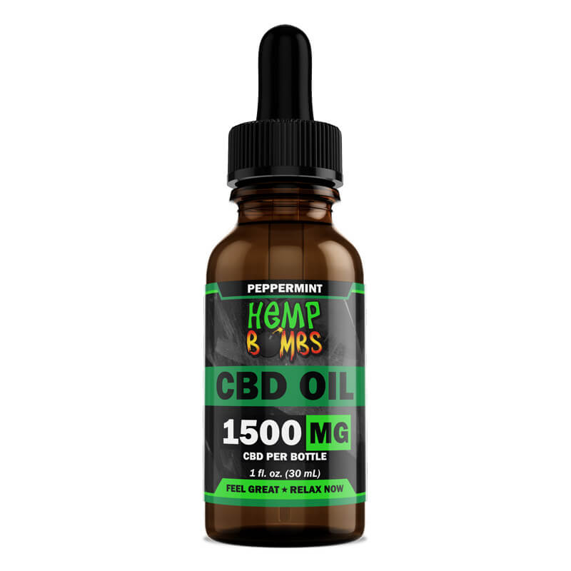 Hemp Bombs, CBD Oil, Full Spectrum, Peppermint, 1oz, 1500mg of CBD