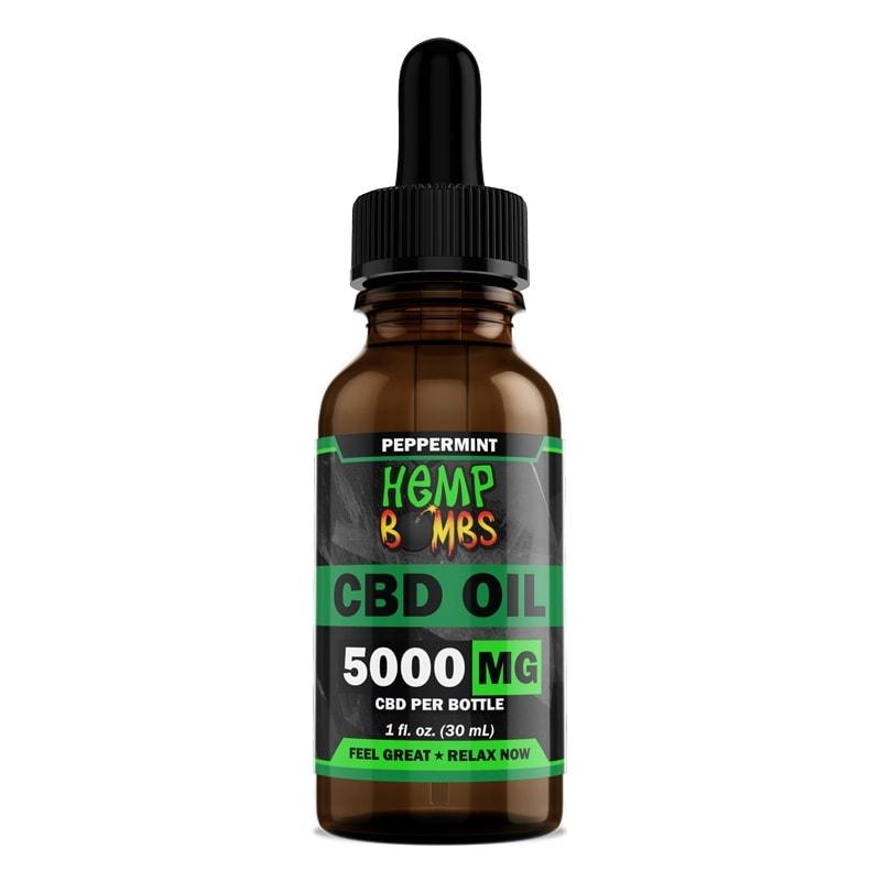Hemp Bombs, CBD Oil, Full Spectrum, Peppermint, 1oz, 5000mg of CBD