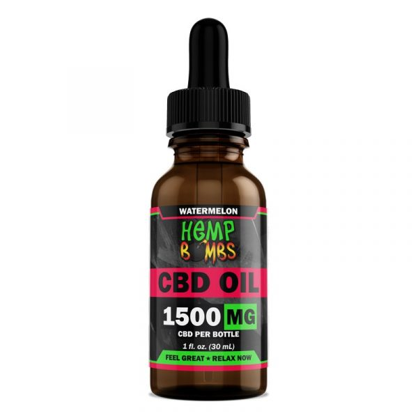Hemp Bombs, CBD Oil, Full Spectrum, Watermelon, 1oz, 1500mg of CBD