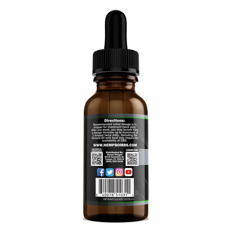 Hemp Bombs, CBD Oil, Full Spectrum, Watermelon, 1oz, 5000mg of CBD3