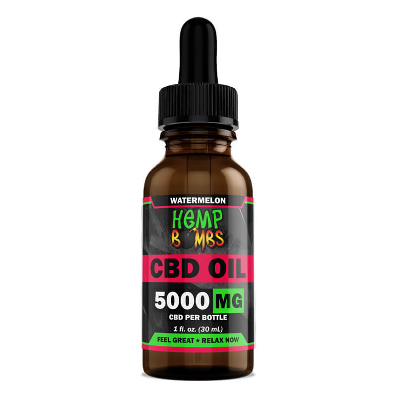 Hemp Bombs, CBD Oil, Watermelon, 1oz, 5000mg of CBD