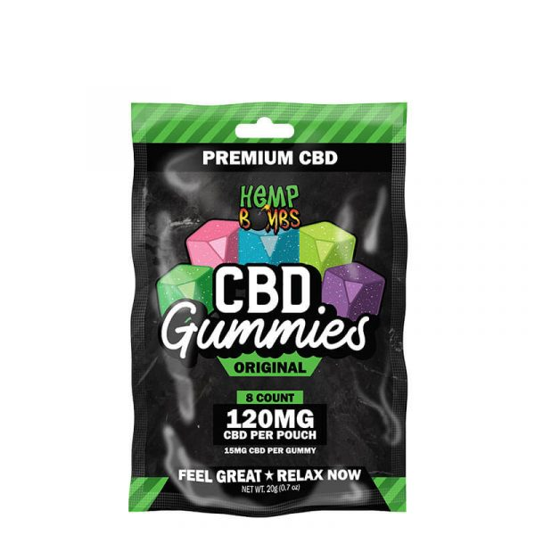 Hemp Bombs® 8-Count CBD Gummies feature 15mg of premium CBD in delicious gummy form. Whether you want to stay well or are looking to unwind at the end of the night, our gummies are the perfect option.
