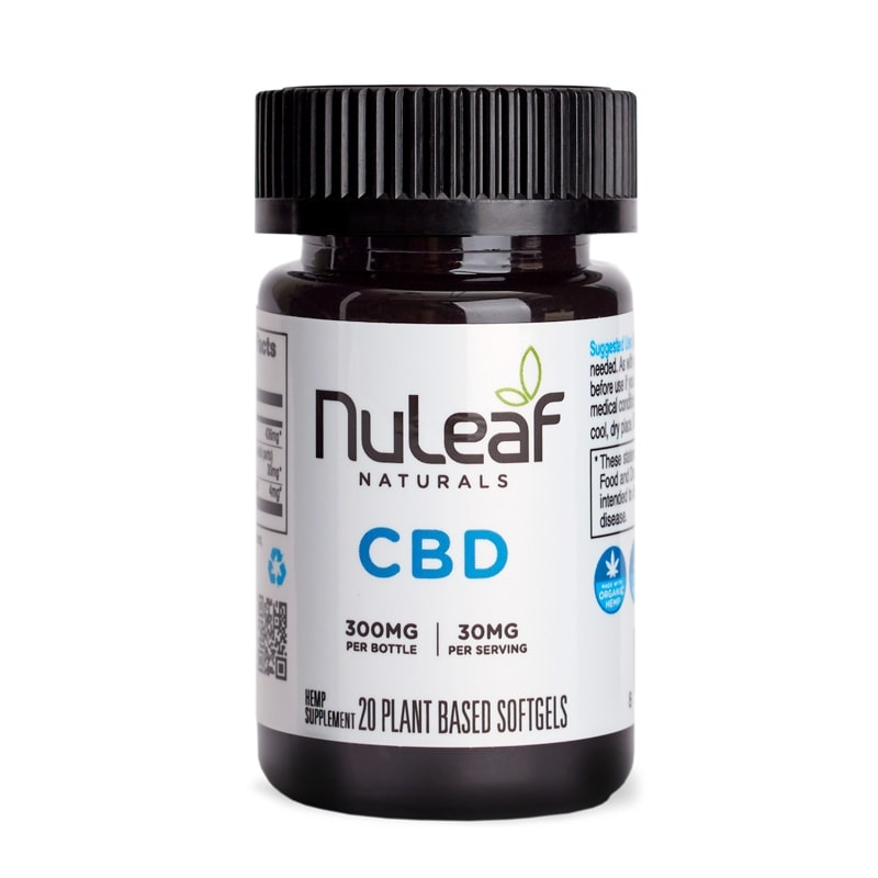 NuLeaf Naturals, Full Spectrum Hemp CBD Capsules, Full Spectrum, 20 Softgels, 300mg of CBD2