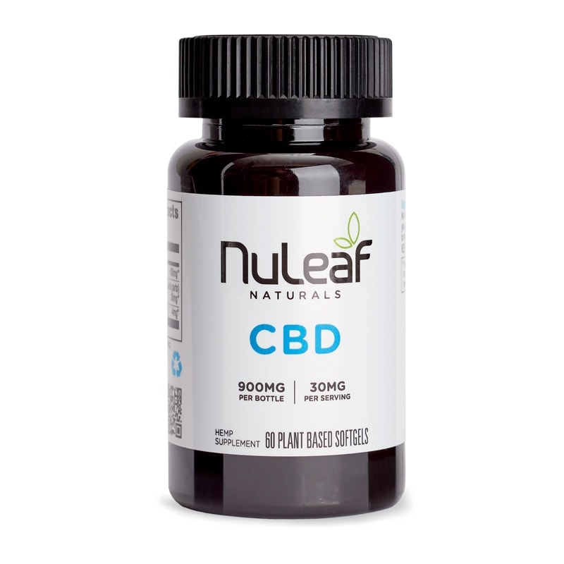NuLeaf Naturals, Full Spectrum Hemp CBD Capsules, Full Spectrum, 60 Softgels, 900mg of CBD2
