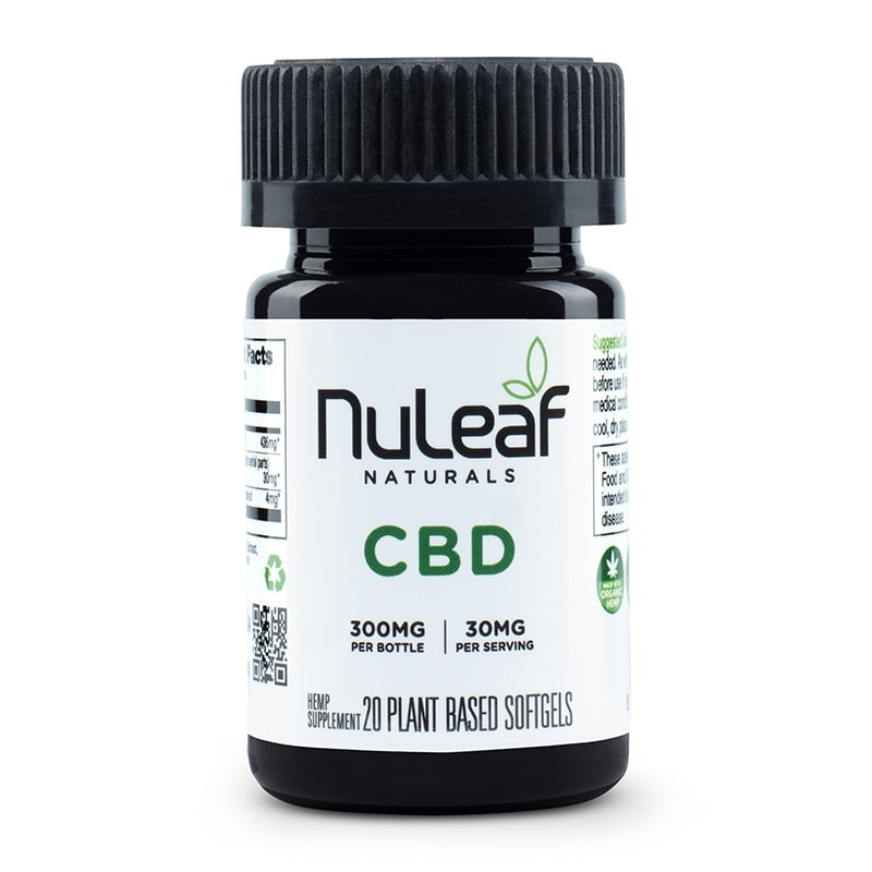 NuLeaf Naturals, Hemp CBD Capsules, Full Spectrum, 20 Softgels, 300mg CBD 1