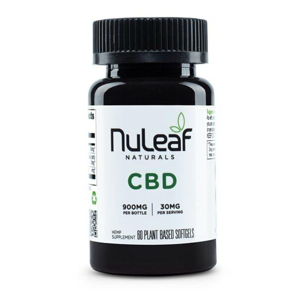 NuLeaf Naturals, Hemp CBD Capsules, Full Spectrum, 60 Softgels, 900mg CBD