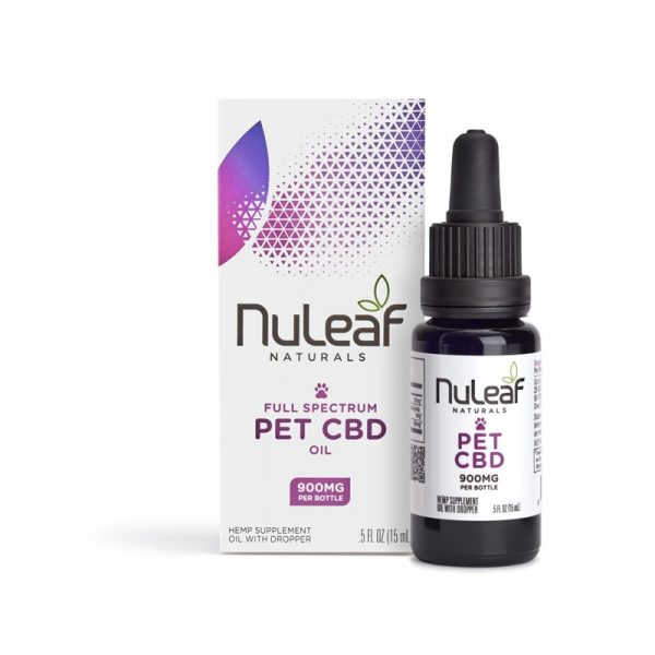 NuLeaf Naturals, Pet CBD Oil, Full Spectrum, 15mL, 900mg of CBD