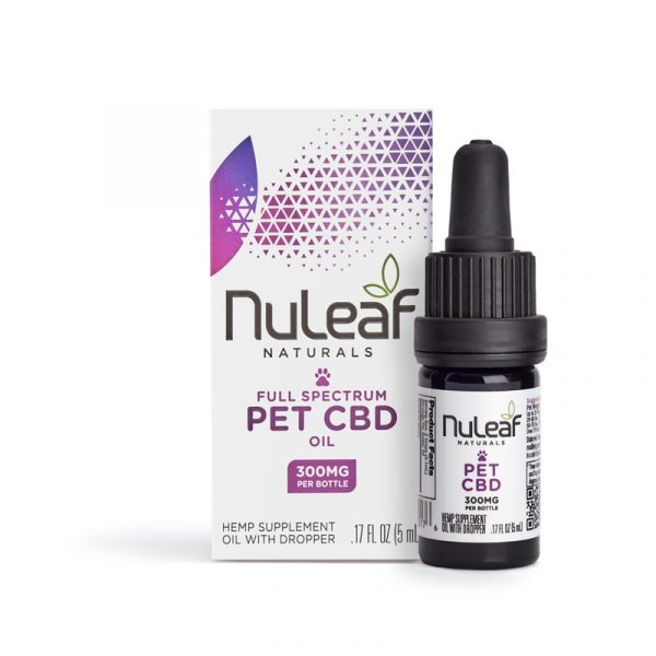 NuLeaf Naturals, Pet CBD Oil, Full Spectrum, 5mL, 300mg of CBD