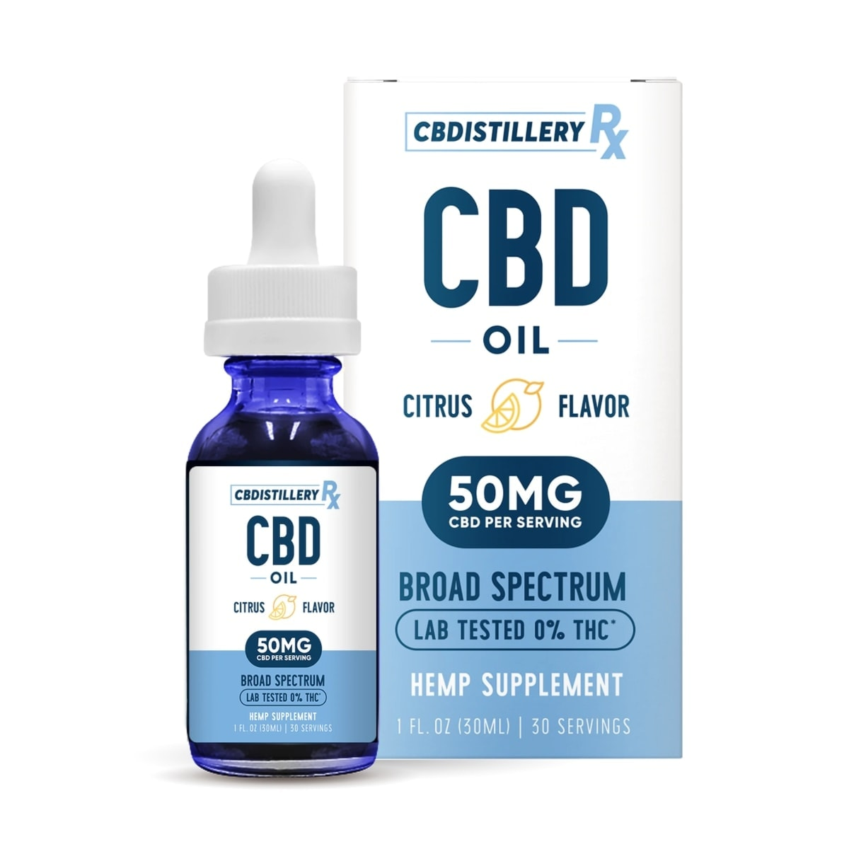 CBDistillery, Broad Spectrum CBD Oil Tincture, THC-Free, Citrus, 1oz, 1500mg of CBD2